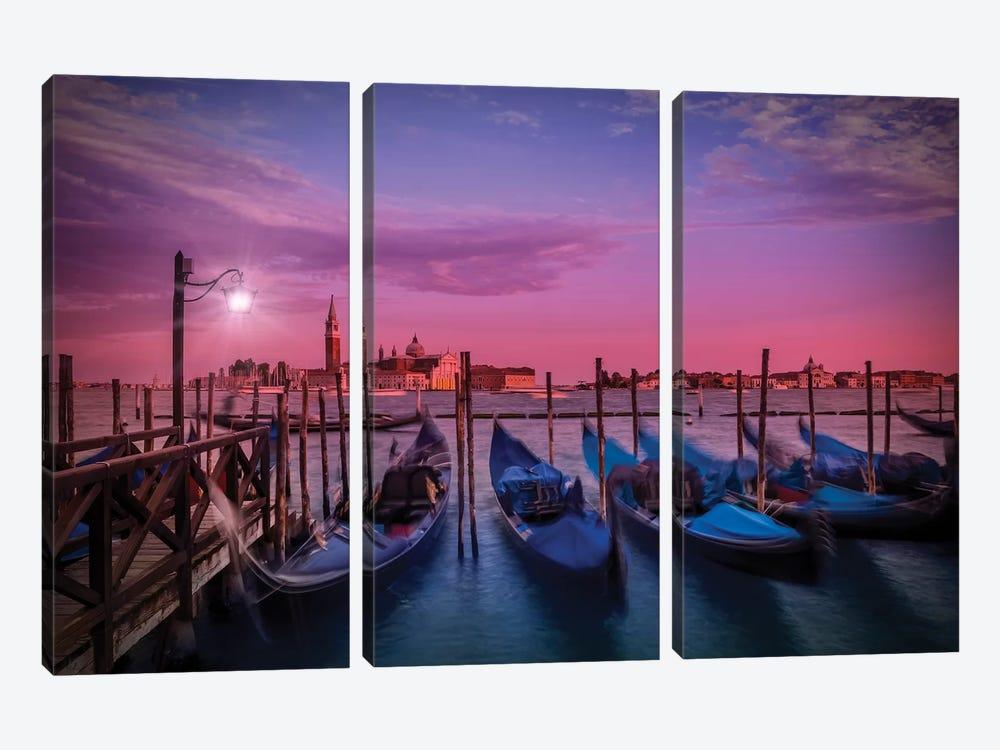 Venice Gorgeous Sunset by Melanie Viola 3-piece Canvas Wall Art