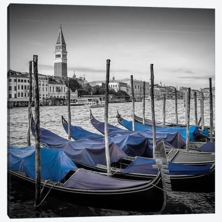 Venice Grand Canal And St Mark's Campanile 3-Piece Canvas #MEV115} by Melanie Viola Art Print
