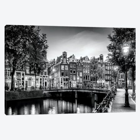 Amsterdam Idyllic Impression From Singel Canvas Print #MEV120} by Melanie Viola Canvas Art Print