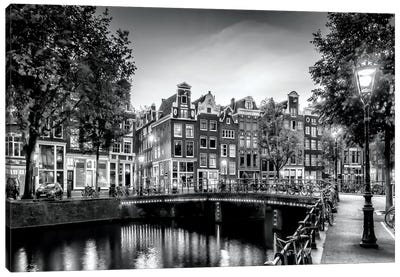 Amsterdam Idyllic Impression From Singel Canvas Art Print