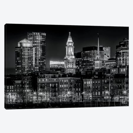 Boston Evening Skyline Of North End & Financial District Canvas Print #MEV124} by Melanie Viola Canvas Wall Art