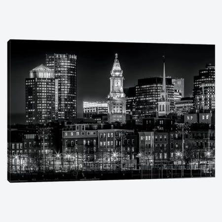 Boston Evening Skyline Of North End & Financial District Canvas Print #MEV124} by Melanie Viola Canvas Wall Art
