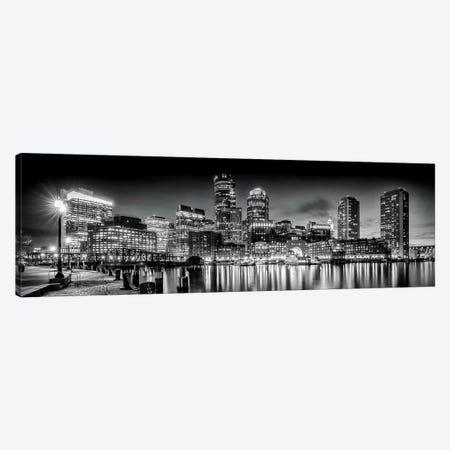 Boston Fan Pier Park & Skyline In The Evening Canvas Print #MEV125} by Melanie Viola Canvas Artwork