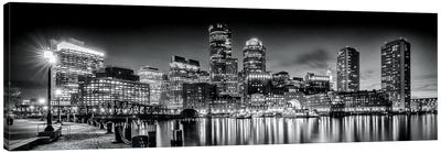Boston Fan Pier Park & Skyline In The Evening Canvas Art Print
