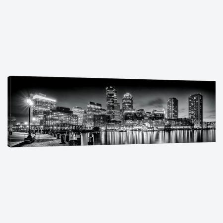 Boston Fan Pier Park & Skyline In The Evening Canvas Print #MEV125} by Melanie Viola Canvas Artwork