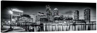 Boston Fan Pier Park & Skyline In The Evening Canvas Art Print
