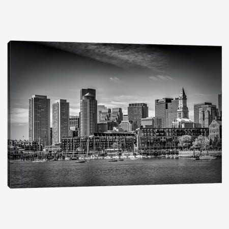 Boston Skyline North End & Financial District Canvas Print #MEV127} by Melanie Viola Canvas Artwork