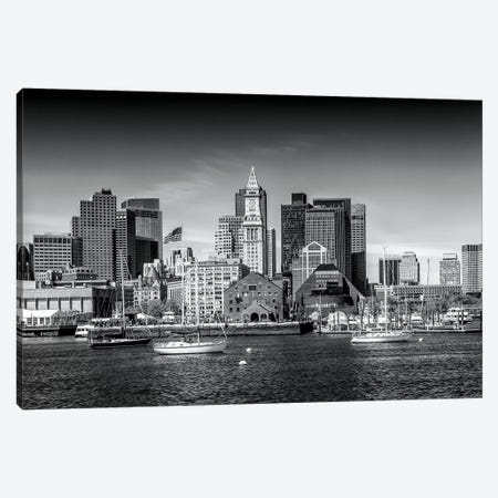 Boston Skyline North End & Financial District Canvas Print #MEV128} by Melanie Viola Art Print