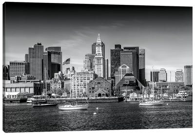 Boston Skyline North End & Financial District Canvas Art Print