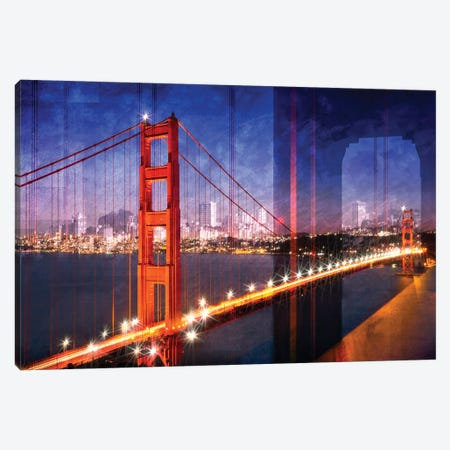 Golden Gate Bridge Composing Canvas Print #MEV12} by Melanie Viola Art Print