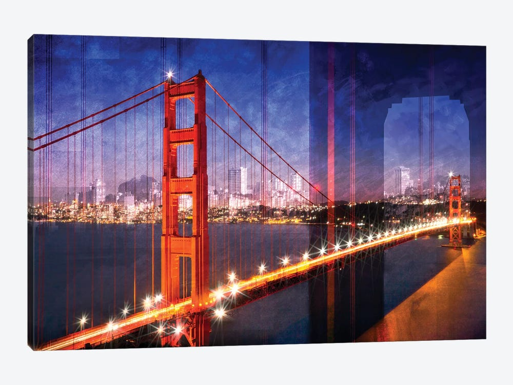 Golden Gate Bridge Composing by Melanie Viola 1-piece Canvas Art Print