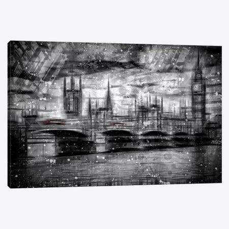 City Shapes London Houses Of Parliament Canvas Print #MEV131} by Melanie Viola Canvas Wall Art