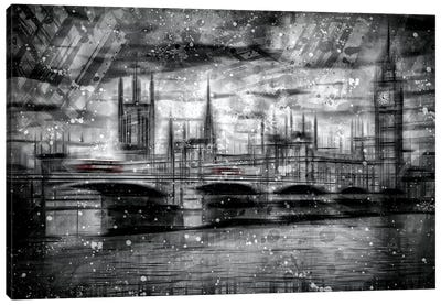 City Shapes London Houses Of Parliament Canvas Art Print