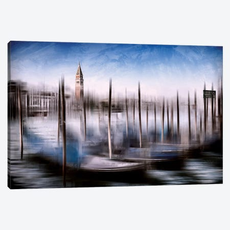 Venice Grand Canal And St Mark's Campanile Canvas Print #MEV133} by Melanie Viola Canvas Art