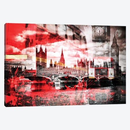 London Red Bus Composing Canvas Print #MEV13} by Melanie Viola Canvas Print
