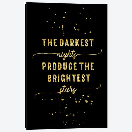 Gold The Darkest Nights Produce The Brightest Stars 3-Piece Canvas #MEV148} by Melanie Viola Canvas Art Print