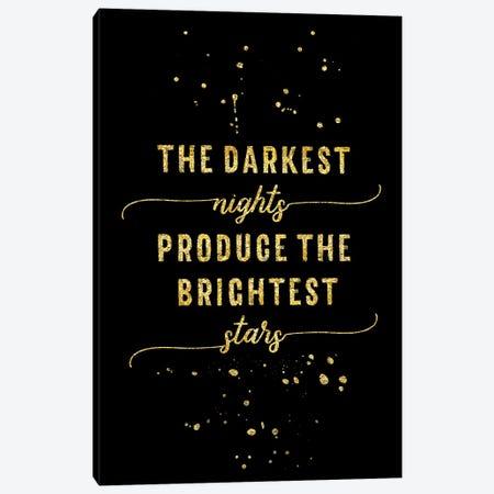 Gold The Darkest Nights Produce The Brightest Stars Canvas Print #MEV148} by Melanie Viola Canvas Art Print