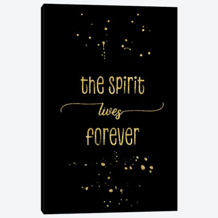 Gold The Spirit Lives Forever Canvas Print #MEV149} by Melanie Viola Canvas Art Print