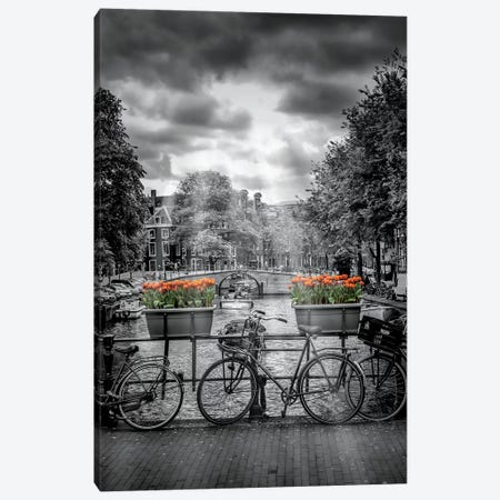 Herengracht Amsterdam Canvas Print #MEV150} by Melanie Viola Canvas Wall Art