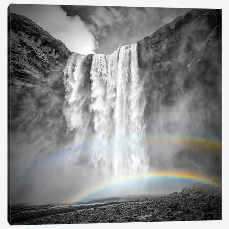 Iceland Skogafoss Canvas Print #MEV153} by Melanie Viola Canvas Wall Art