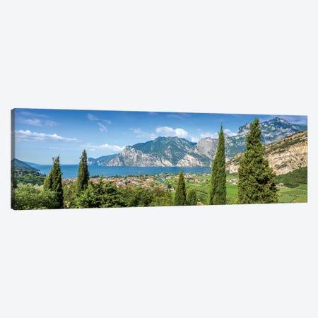 Lake Garda Heavenly Panoramic View 3-Piece Canvas #MEV157} by Melanie Viola Canvas Print