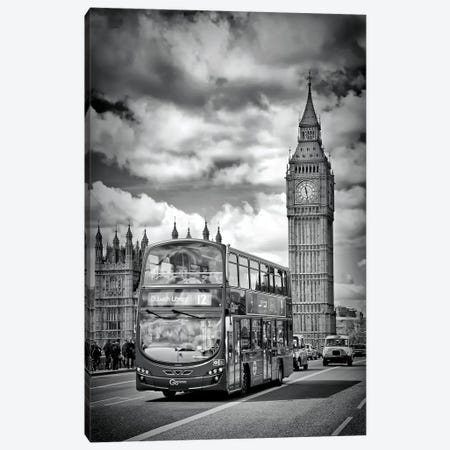 London Houses Of Parliament And Traffic Canvas Print #MEV159} by Melanie Viola Canvas Wall Art