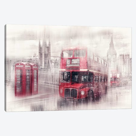 London Westminster Collage Canvas Print #MEV15} by Melanie Viola Canvas Artwork