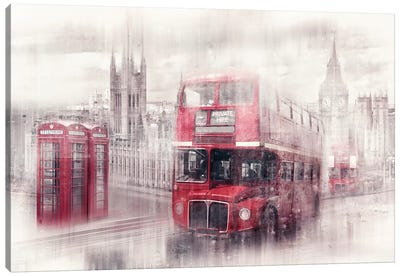 London Westminster Collage Canvas Art Print