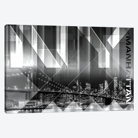 Modern Art Brooklyn Bridge & Skyline Canvas Print #MEV162} by Melanie Viola Canvas Print