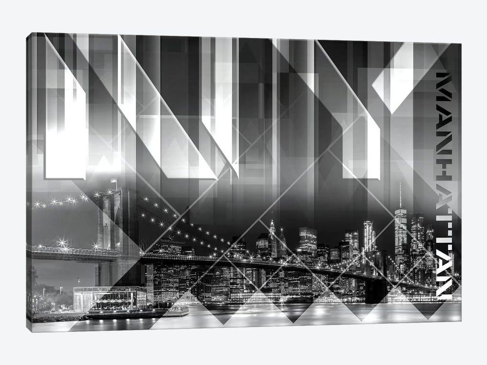 Modern Art Brooklyn Bridge & Skyline by Melanie Viola 1-piece Canvas Print