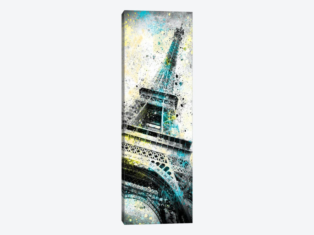 Modern Art Eiffel Tower Splashes I by Melanie Viola 1-piece Canvas Art