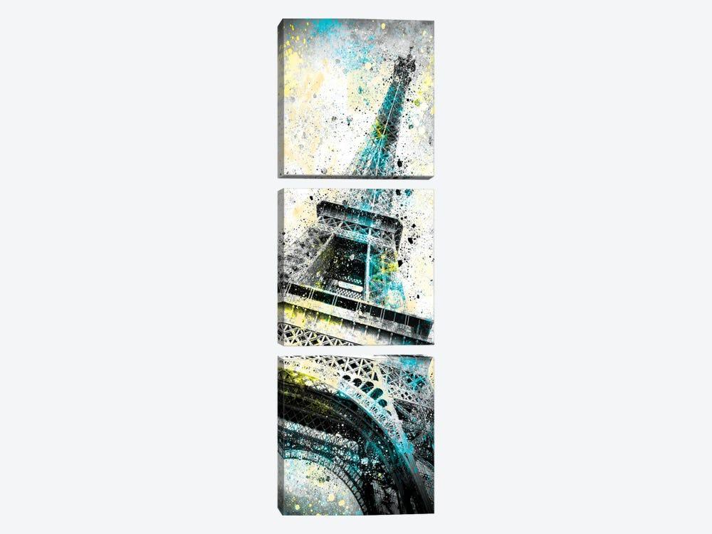 Modern Art Eiffel Tower Splashes I by Melanie Viola 3-piece Canvas Artwork