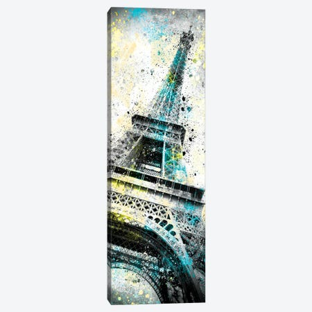 Modern Art Eiffel Tower Splashes I Canvas Print #MEV163} by Melanie Viola Canvas Art Print