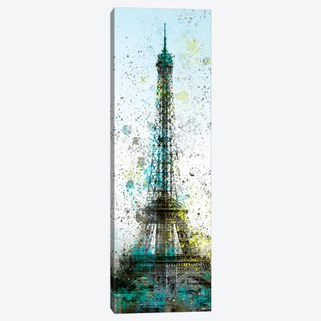Modern Art Eiffel Tower Splashes II Canvas Print #MEV164} by Melanie Viola Canvas Wall Art