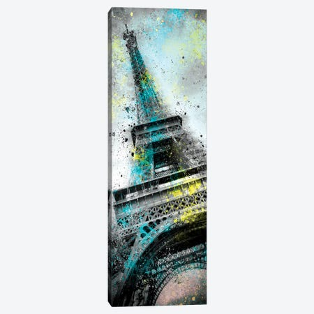 Modern Art Eiffel Tower Splashes III Canvas Print #MEV165} by Melanie Viola Canvas Artwork