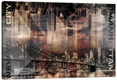 Modern Art Manhattan Skylines Canvas Art Print