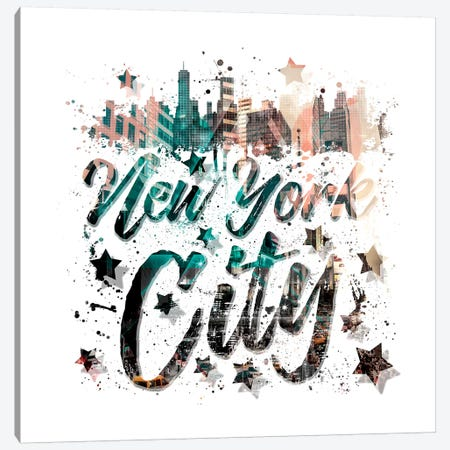 New York City Canvas Print #MEV168} by Melanie Viola Art Print