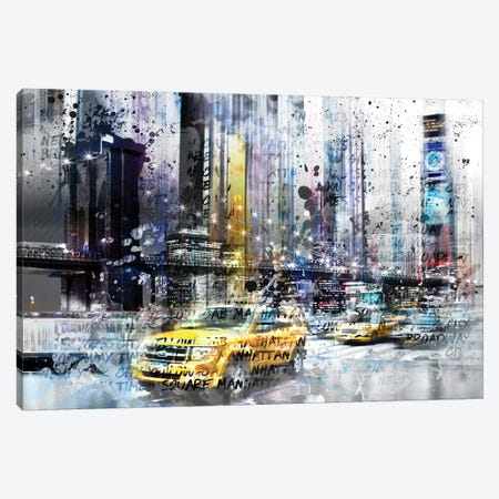 NYC Collage Canvas Print #MEV16} by Melanie Viola Canvas Wall Art