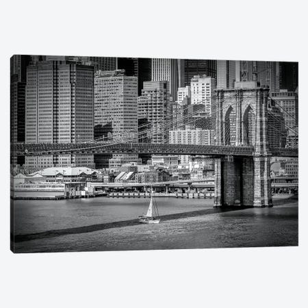 New York City Brooklyn Bridge & Manhattan Skyline Canvas Print #MEV170} by Melanie Viola Canvas Artwork