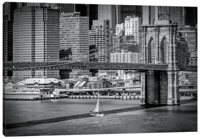 New York City Brooklyn Bridge & Manhattan Skyline Canvas Art Print