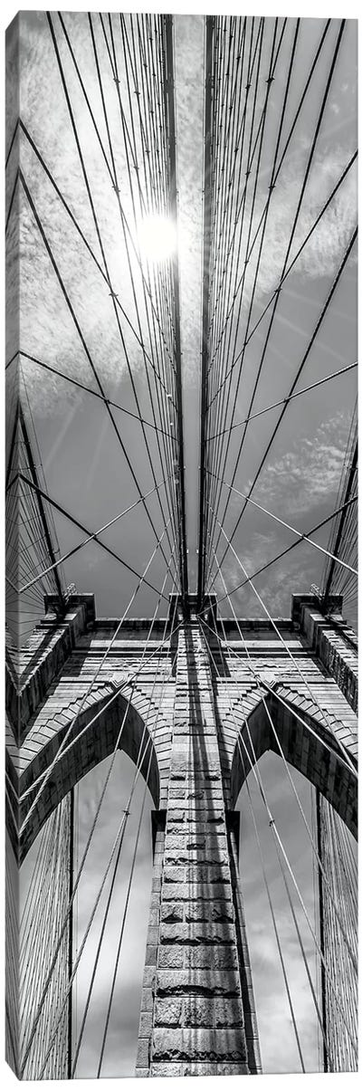 New York City Brooklyn Bridge In Detail Canvas Art Print