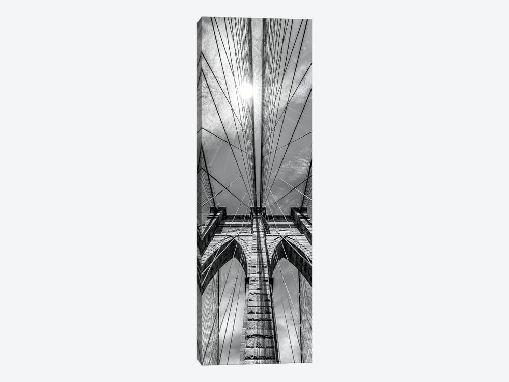 New York City Brooklyn Bridge In Detail by Melanie Viola 1-piece Canvas Art Print