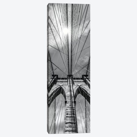 New York City Brooklyn Bridge In Detail 3-Piece Canvas #MEV171} by Melanie Viola Canvas Artwork