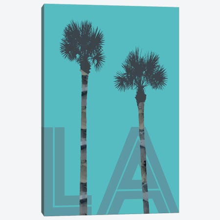Palm Trees LA Canvas Print #MEV172} by Melanie Viola Canvas Art