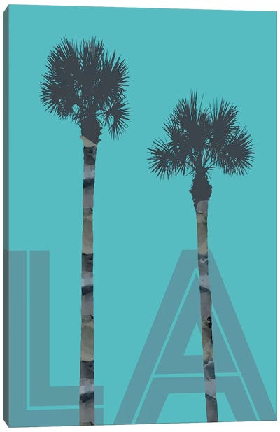 Palm Trees LA Canvas Art Print