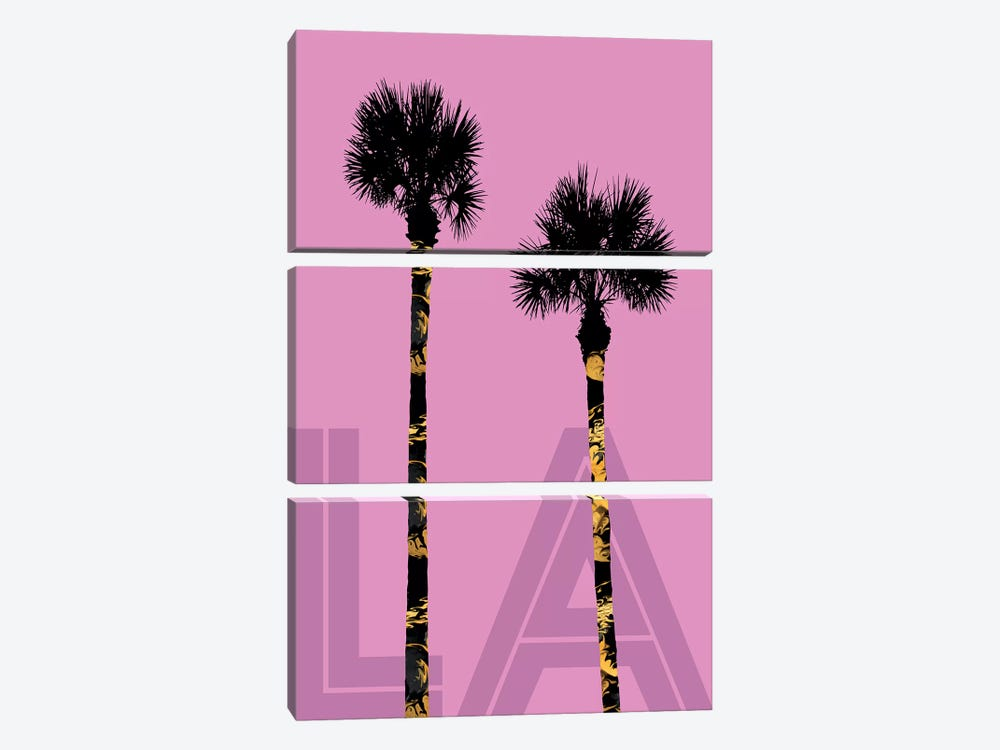 Palm Trees LA by Melanie Viola 3-piece Canvas Art Print