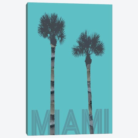 Palm Trees Miami Canvas Print #MEV174} by Melanie Viola Art Print