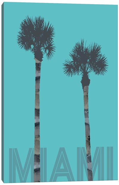 Palm Trees Miami Canvas Art Print