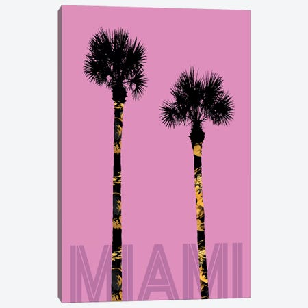 Palm Trees Miami Canvas Print #MEV175} by Melanie Viola Art Print