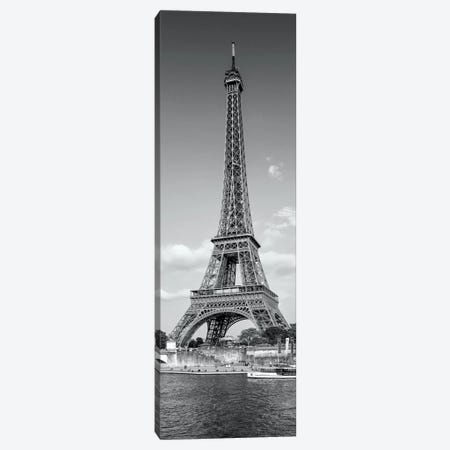Paris Eiffel Tower & River Seine Panorama Canvas Print #MEV176} by Melanie Viola Canvas Art Print